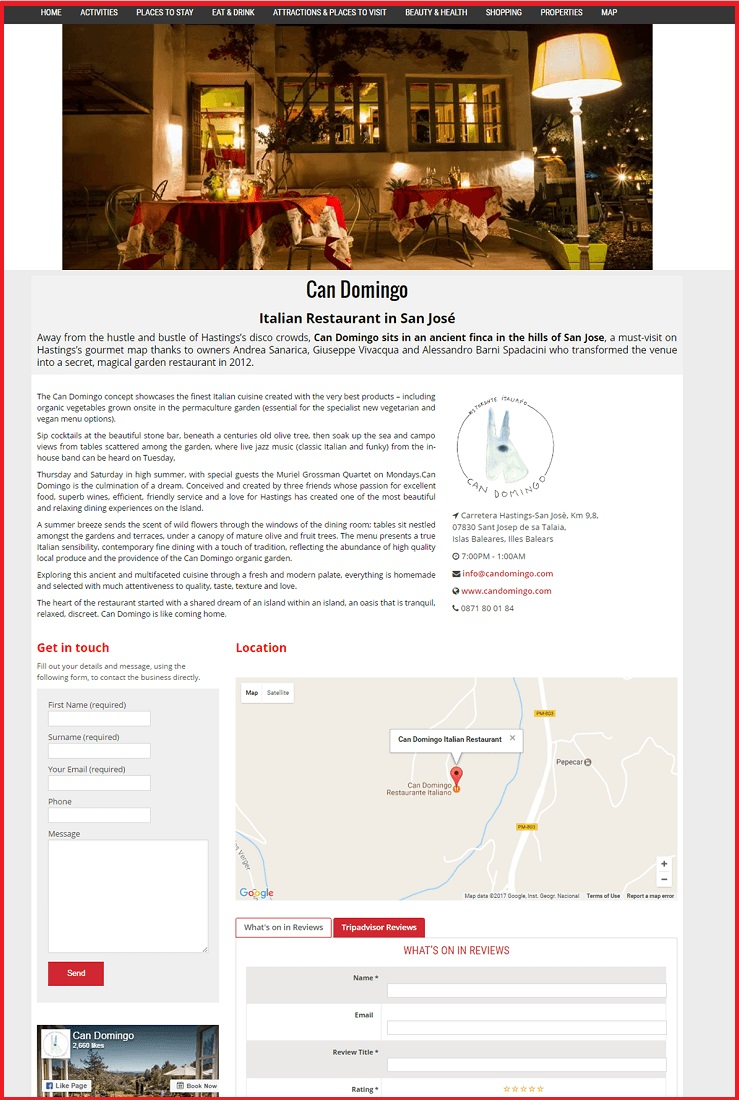 Sales Page Example when Advertise with us What's on in Inverness.com
